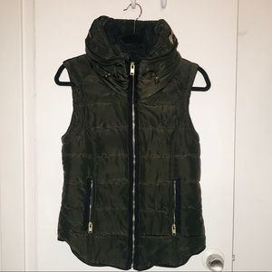 Dark Green/Grey Puffer Vest